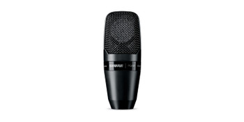 Shure Large-diaphragm side-address cardioid condenser microphone with shock-mount and carrying case - less cable