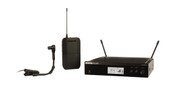 Shure Instrument System with (1) BLX4R Wireless Receiver, (1) BLX1 Bodypack Transmitter, and (1) WB98H/C Cardioid Condenser Instrument Microphone