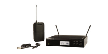 Shure Instrument System with (1) BLX4R Wireless Receiver, (1) BLX1 Bodypack Transmitter, and (1) WL185 Lavalier Microphone