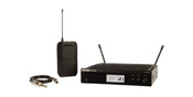 Shure Guitar Wireless System with (1) BLX4R  Wireless Receiver, (1) BLX1 Bodypack Transmitter, and (1) WA302 Instrument Cable
