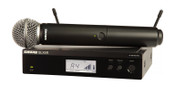 Shure Vocal System with (1) BLX4R Rack Mount Wireless Receiver and (1) BLX2 Handheld Transmitter with SM58 Microphone