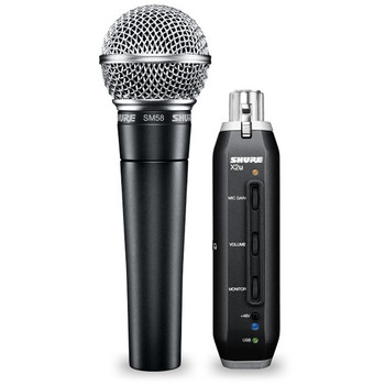 Shure SM57-X2U Dynamic Mic with USB Adapter