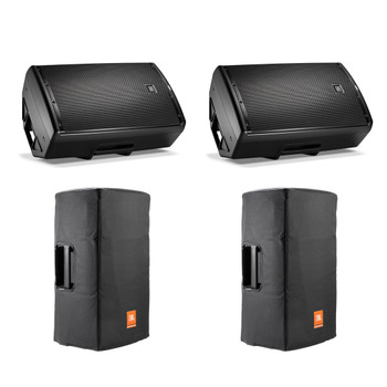 JBL EON 615 Powered 15-Inch Speakers with Bags and Bluetooth Control
