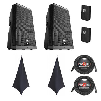 EV ZLX-15P Powered Speaker Gig Bundle