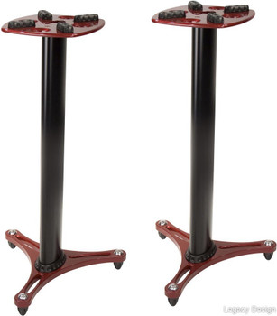 Ultimate Support MS-90/36R Second Generation Column Studio Monitor Stand with Non-marring Decoupling Pads and Three Internal Channels - 36 inch/Red