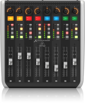 X-TOUCH EXTENDER with 8 Touch-Sensitive Motor Faders, LCD Scribble Strips, USB Hub and Ethernet/USB Interfaces