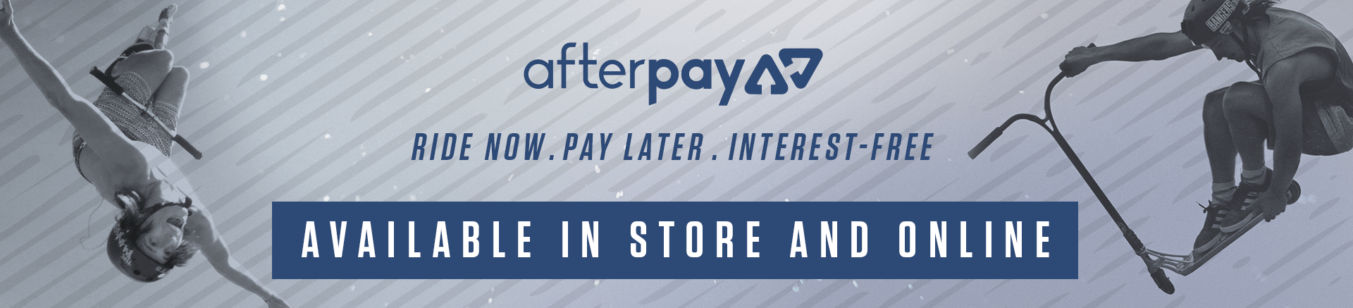 Afterpay available instore and online at Scooter Hut