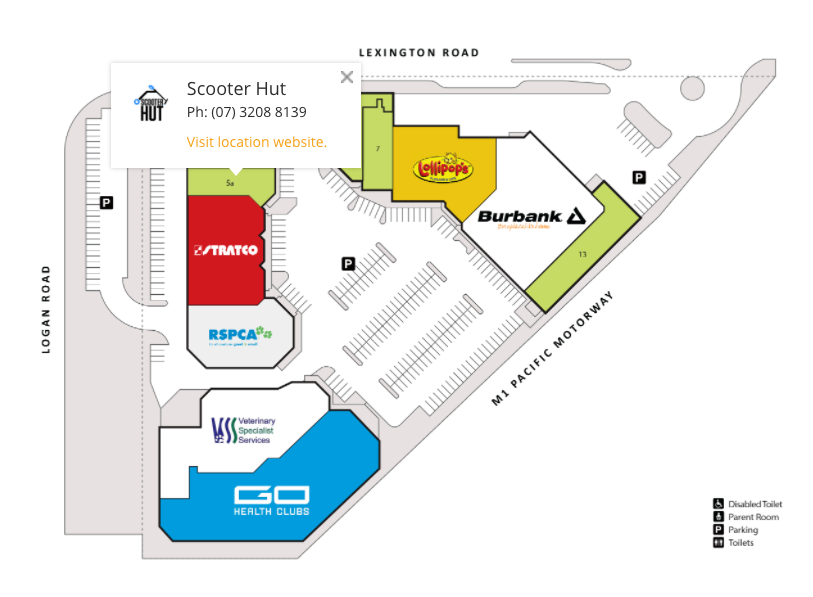 The Centre @ Springwood Store Map