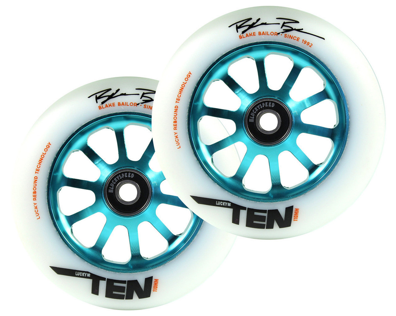 scooter hut lucky ten 110mm wheels drc pair