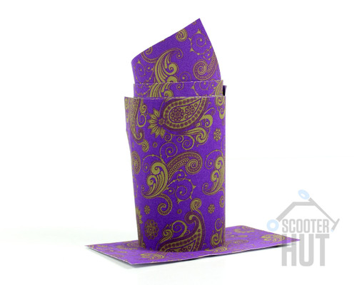 Paisley Pattern BarWrap Purple / Gold