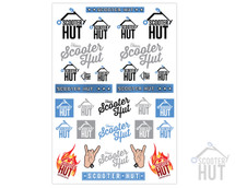 Scooter Hut EXCLUSIVE Sticker Sheet V5.0