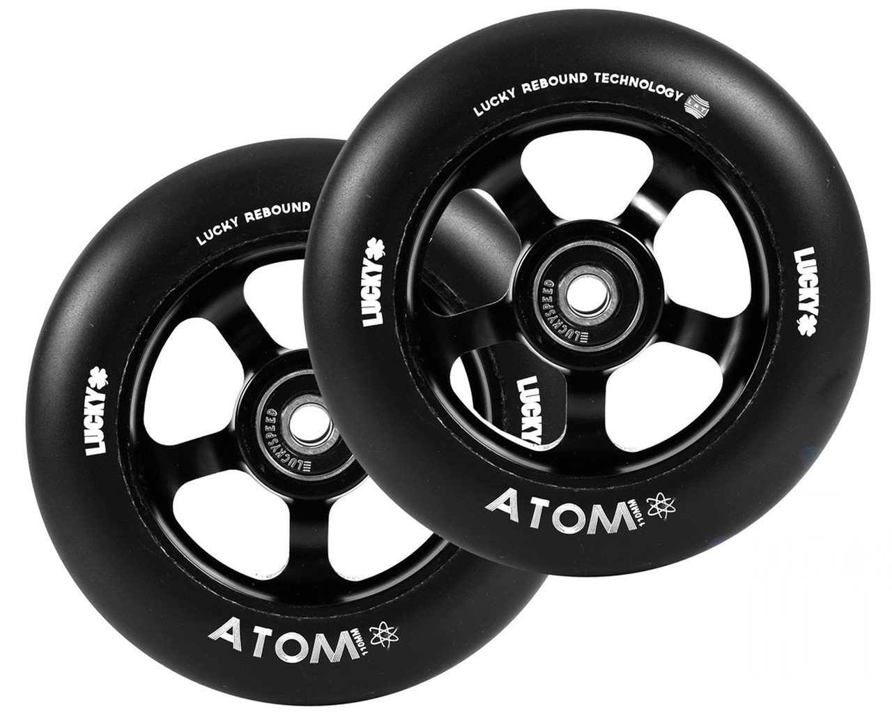 lucky atom 110mm wheels drc pair