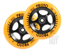 Proto Day-Glo Gripper 110mm Wheels | Orange on Black