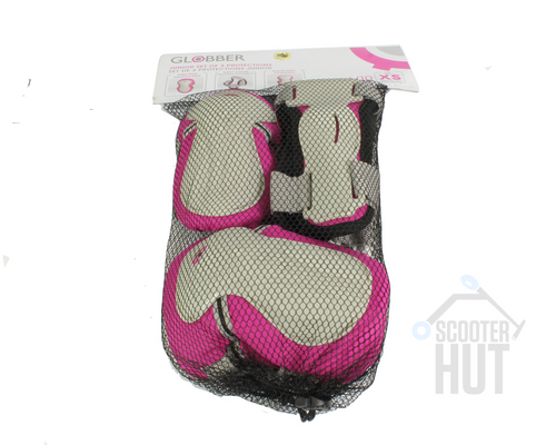Globber Junior Protective Pad Set | Pink