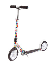 Micro White Floral Commuter Scooter