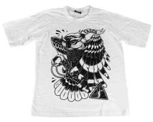 Fasen Owl Design T-shirt