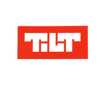 Tilt Block Logo Sticker | Red