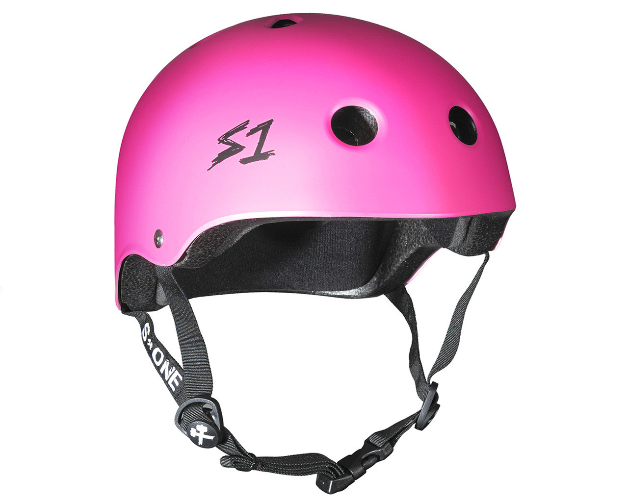 Scooter Hut S1 Helmet Lit Collab Hot Pink Matte