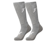 Footprint Painkiller Knee High Shin Socks | Grey
