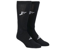 Footprint Painkiller Knee High Shin Socks | Black