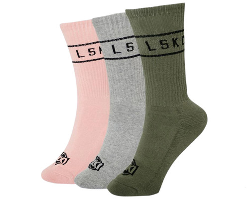 LKI Swing Crew Socks | Mixed | 3 Pack