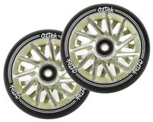 Aztek Ermine XL Wheels | 115mm x 30mm | Ivory | Pair