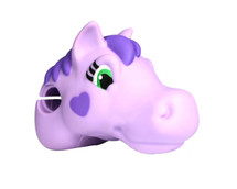 ScootaHeadz Kids Bar Accessories | Lovely Lola Pony | Purple