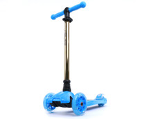 i-Glide Kids 3-Wheel Scooter | Blue/Gold Neo