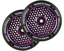Root Industries HoneyCore 120mm Wheels | Black PU | Pair | Purple
