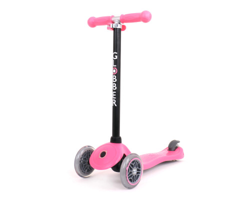 Globber Go Up Sporty 4-in-1 Kids 3-Wheel Scooter | Deep Pink