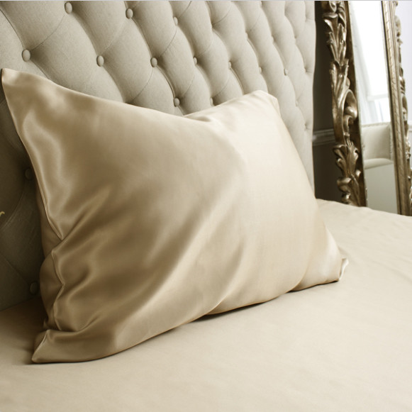 Silk Bed Linen Taupe Housewife Pillowcase - Jasmine Silk