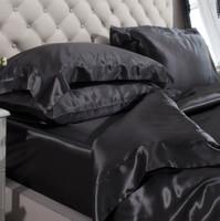 Silk Bed Linen Black - Jasmine Silk