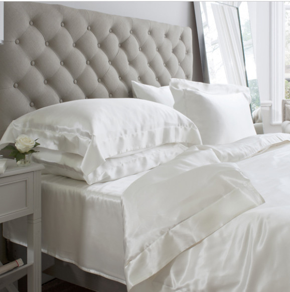 Silk Bed Linen Ivory - Jasmine Silk