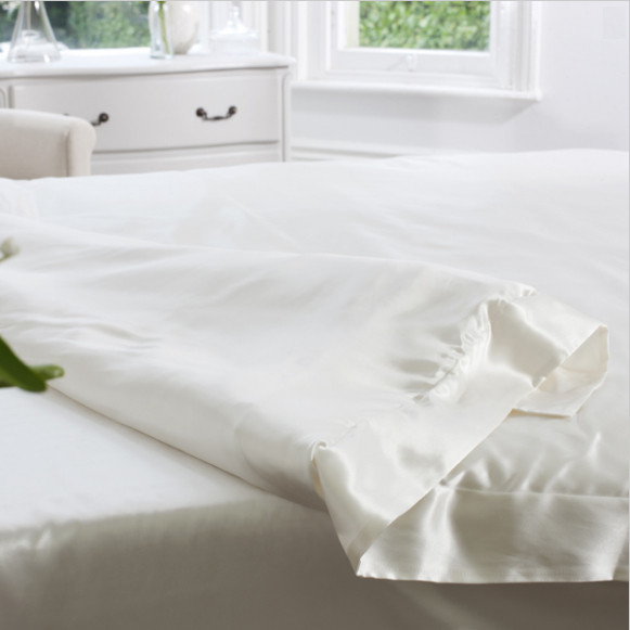 Silk Bed Linen Ivory Duvet Cover - Jasmine Silk