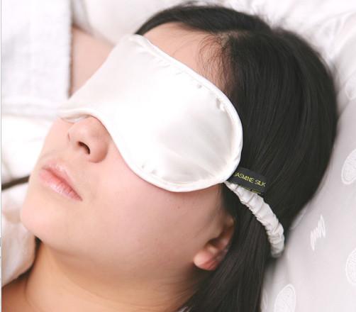 Silk Eye Mask - Jasmine Silk (Ivory)