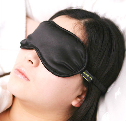Silk Eye Mask - Jasmine Silk (Black)