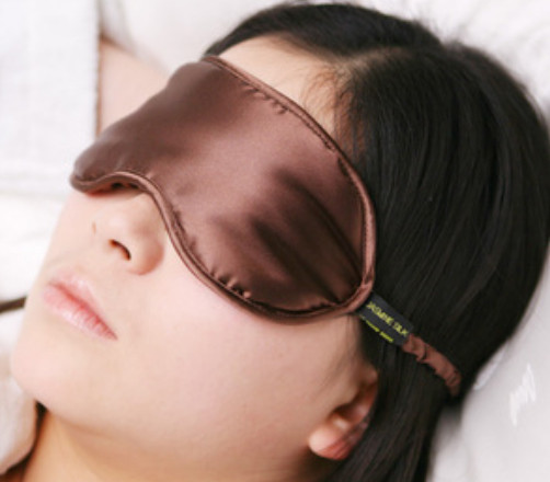 Silk Eye Mask - Jasmine Silk (Mocha)
