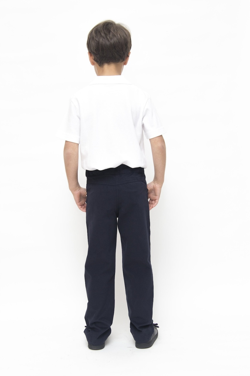 Organic School Uniform - Navy Boys Jean Style Trousers