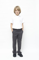 Organic School Uniform - Grey Boys Classic Fit Trousers