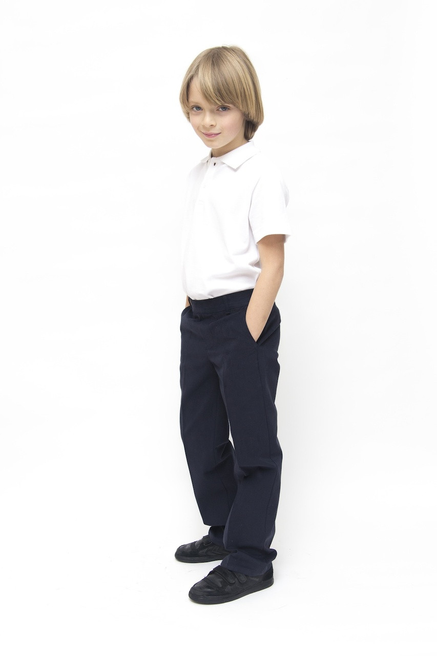 Organic School Uniform - Navy Boys Classic Fit Trousers