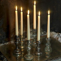 Antique Glass Candle Sticks