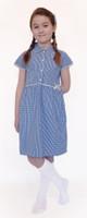 Organic School Uniform - Blue Summer Gingham Checked Dress