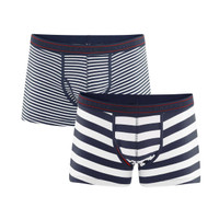 Organic Cotton Men Fitted Stripey Boxers Twin Pack - Living Crafts