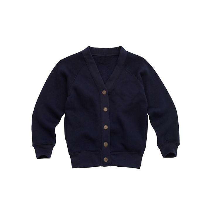 Organic Cotton School Cardigan - Navy Blue