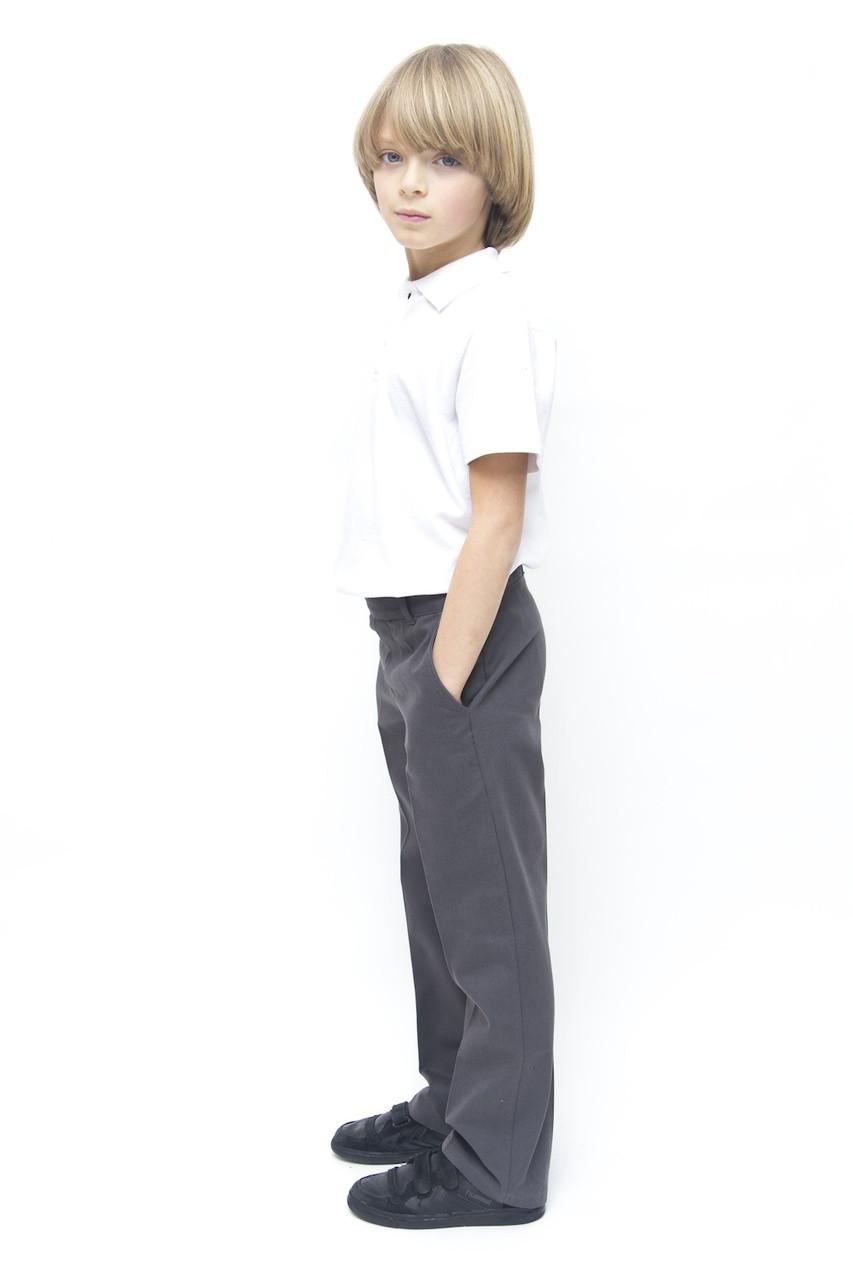 Organic School Uniform - Grey Boys Classic Fit Trousers
