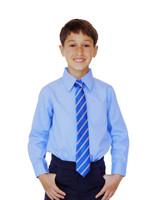 Organic School Uniform - Blue Unisex Long Sleeve Shirt