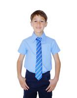 Organic School Uniform - Blue Unisex Short Sleeve Shirt