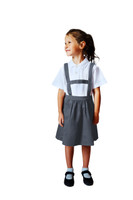 Organic School Uniform - Grey Skirt with Detachable Braces