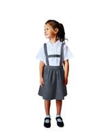 Organic School Uniform - Grey Skirt with Detachable Braces
