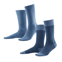 Organic Cotton Socks Infinity Blue (Pack of 2) - Living Crafts